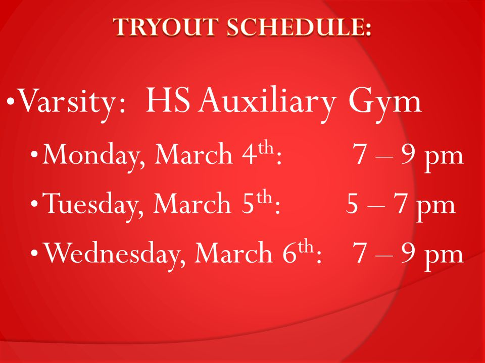 TRYOUT PROCEDURES Coaches will evaluate players using the following criteria and a rubric system:  Passing/Catching/Shooting (both left and right hands)  Cradling (both left and right hands)  Agility and Physical Aptitude  Physical Fitness  Attitude and Coachability