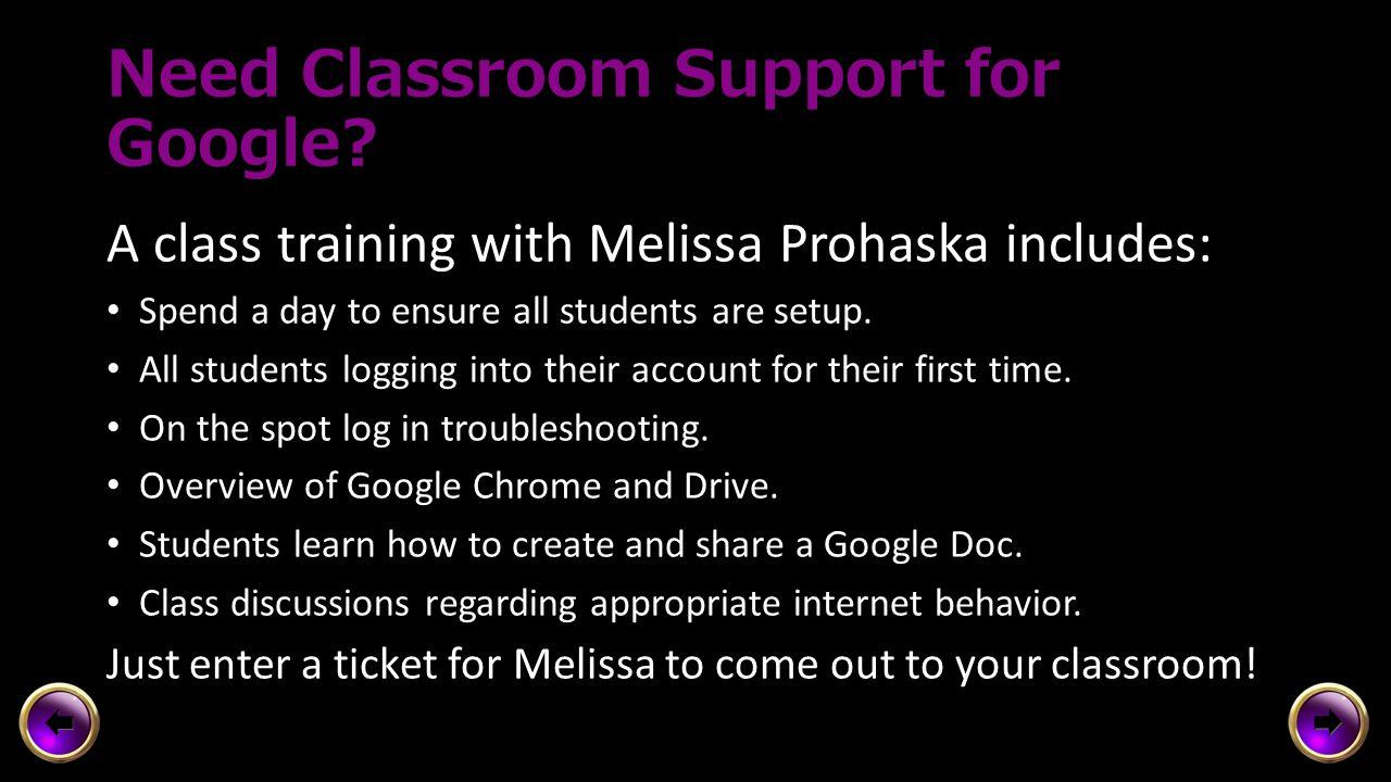 Google Training at Your School SchoolIntro to Google & ChromeGoogle Drive 1Google Drive 2 AmandaScheduled Central Academyxx Creekviewx Highviewx Mayfi