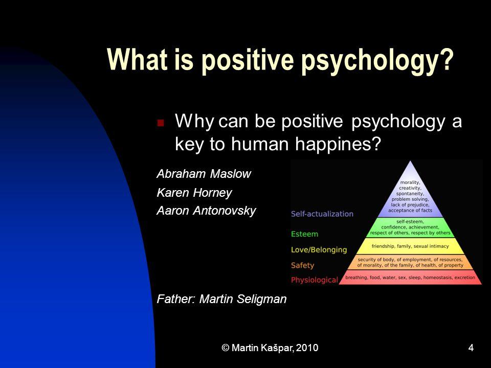 © Martin Kašpar, 20105 What is positive psychology.