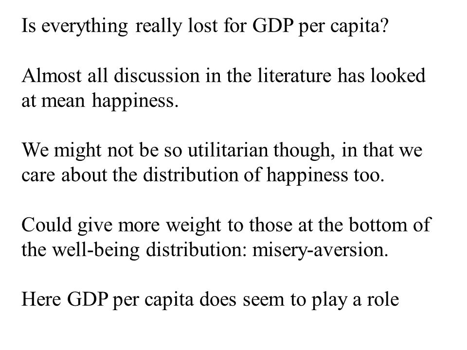 Is everything really lost for GDP per capita.