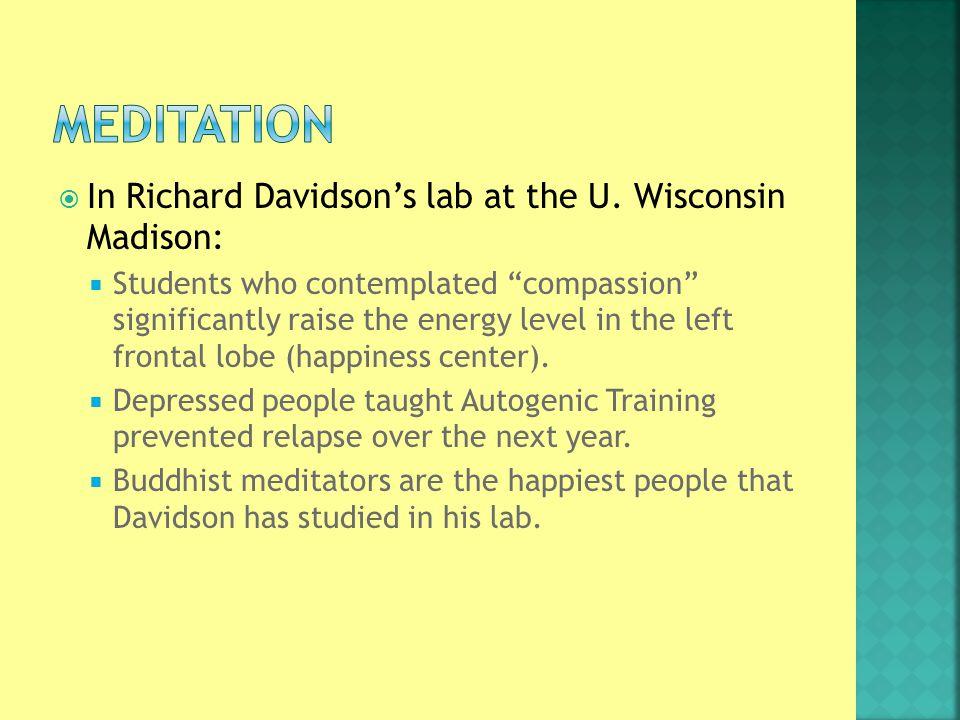  In Richard Davidson's lab at the U.