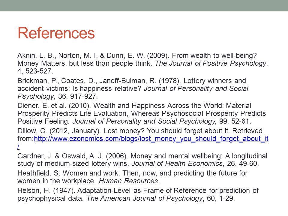 References Aknin, L. B., Norton, M. I. & Dunn, E.