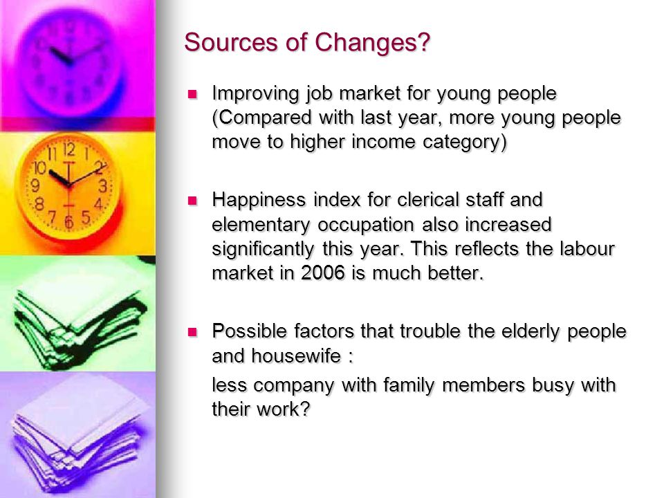 Sources of Changes.