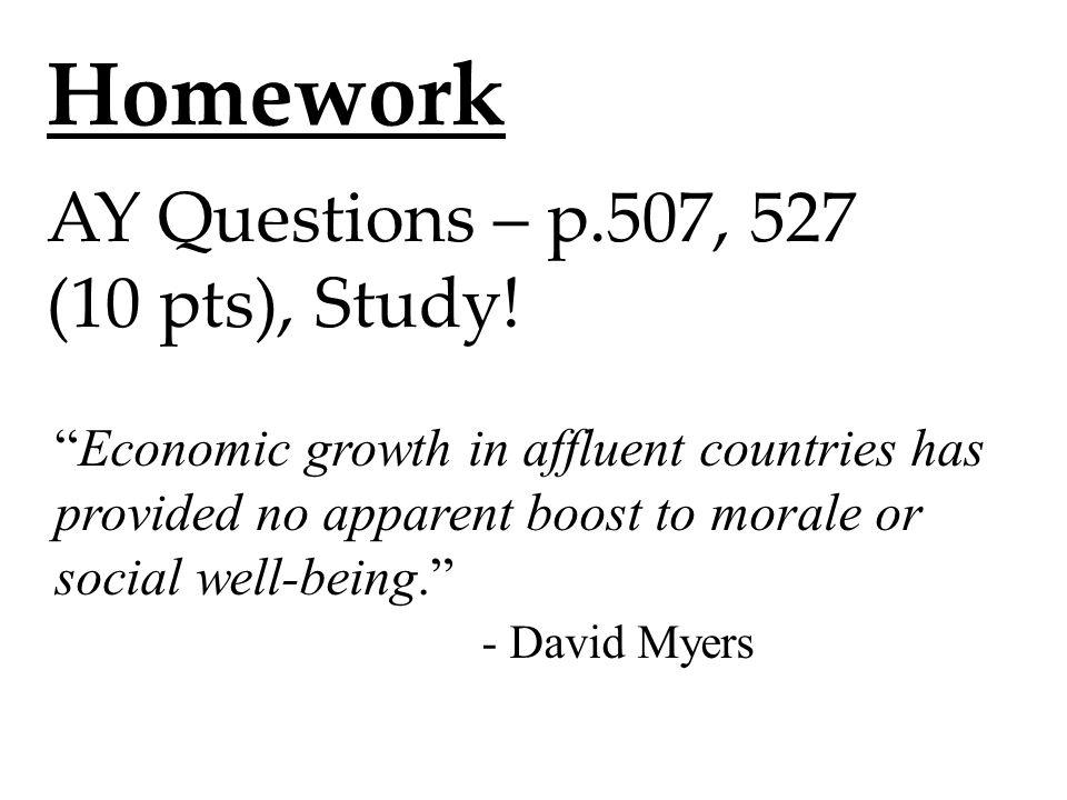 Homework AY Questions – p.507, 527 (10 pts), Study.