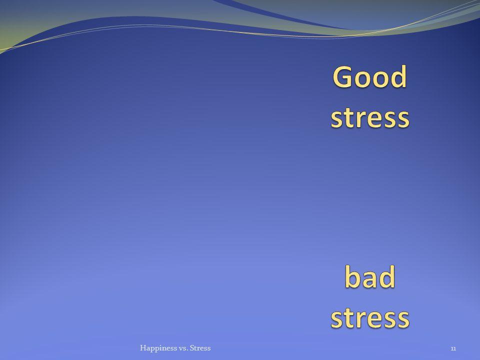 Happiness vs. Stress11