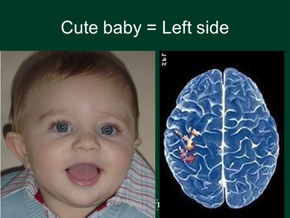 Cute baby = Left side