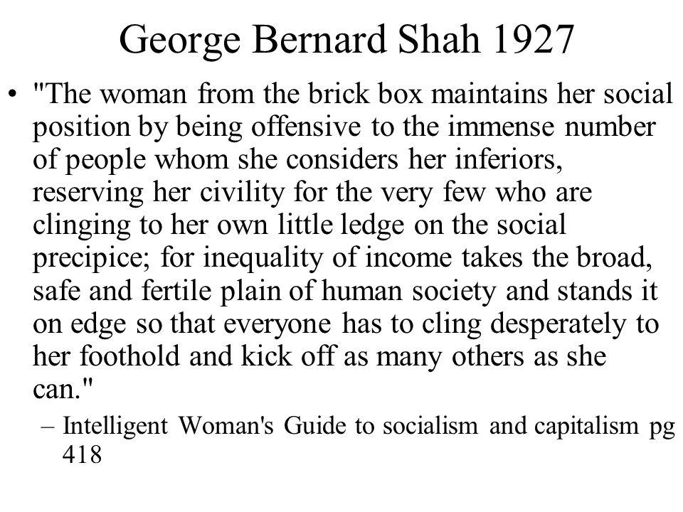 George Bernard Shah 1927