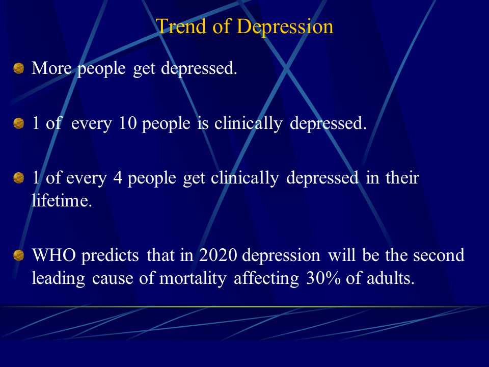 The Cause of Depression No policy implication Depression is not opposite to happiness.
