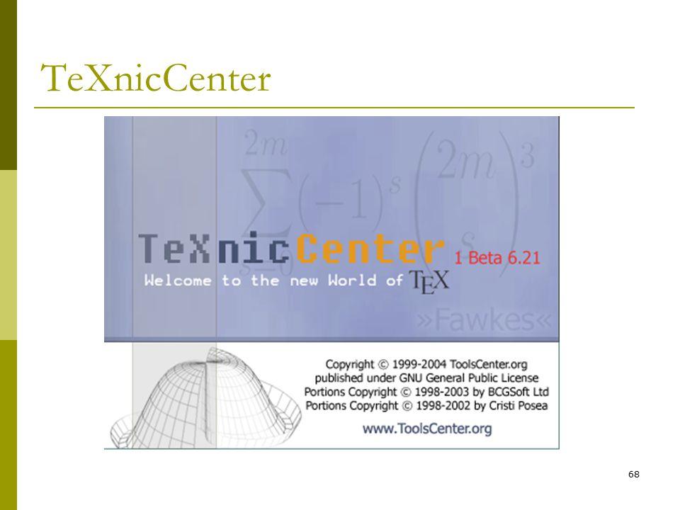68 TeXnicCenter