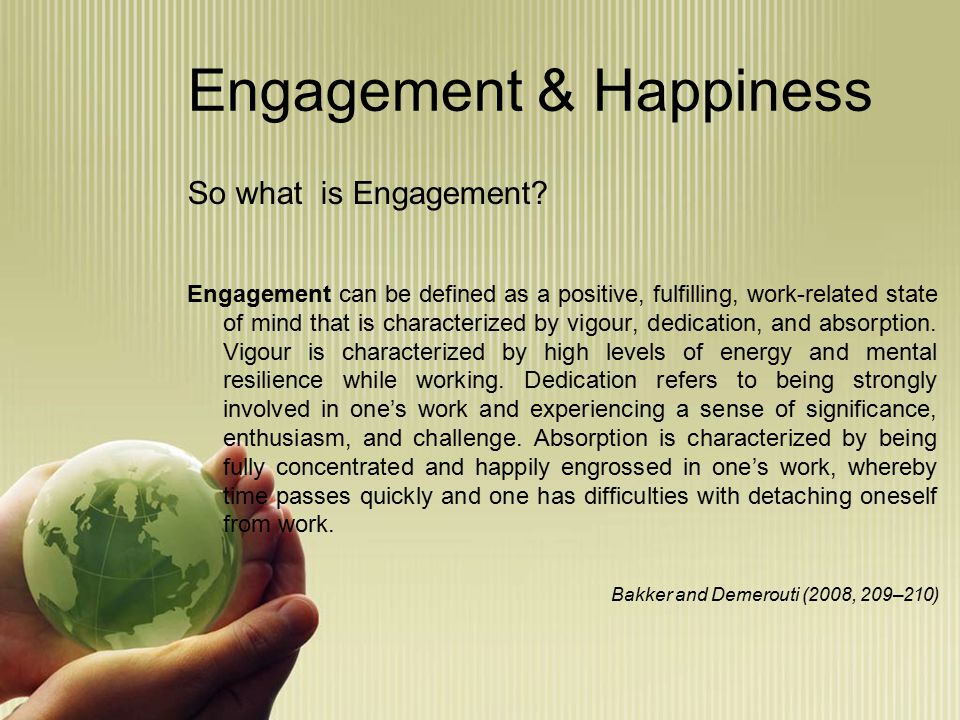 Benefits of Engagement include...