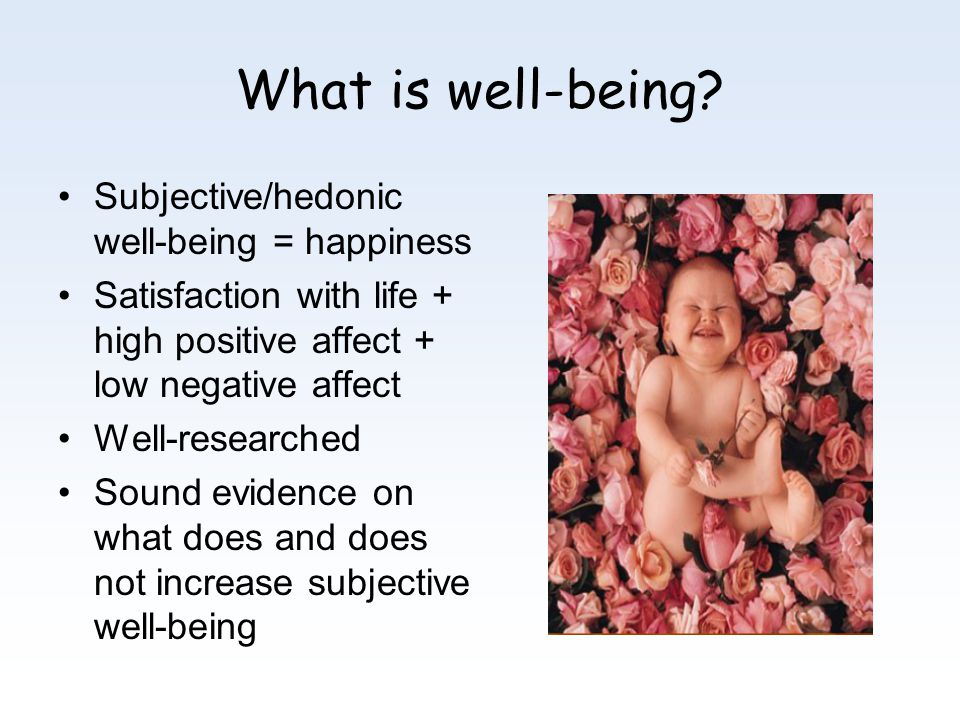 What is well-being.