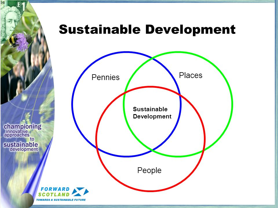 Sustainable Development Pennies Places People Sustainable Development