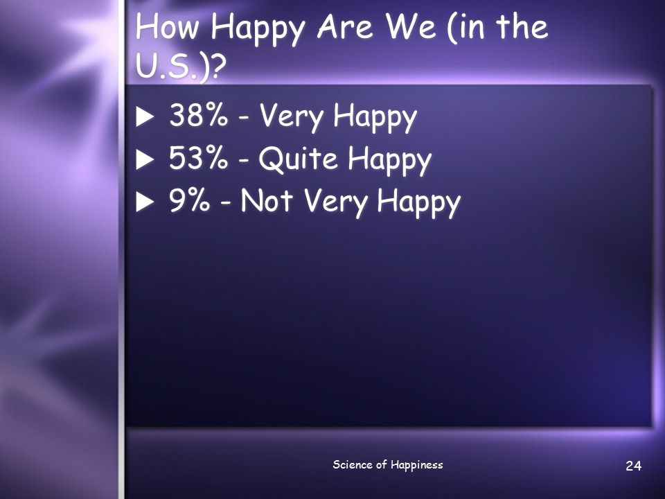 Science of Happiness 25 Are We Getting Happier.