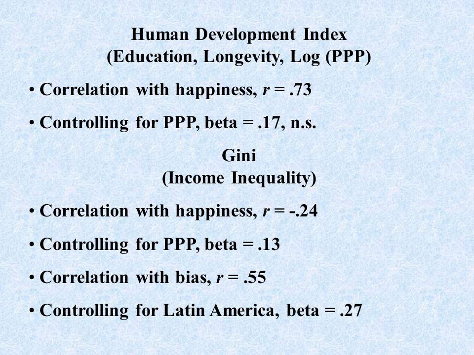 Top 10 Residuals Happier than PPP Predicts 1. Indonesia 2.