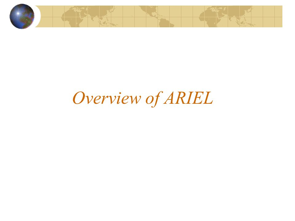 Overview of ARIEL