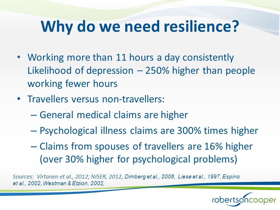 Why do we need resilience.