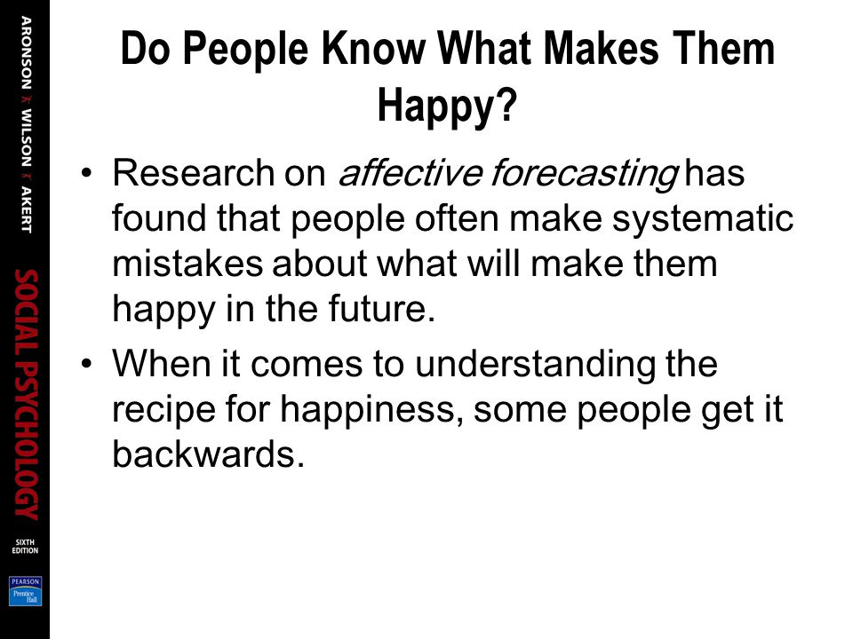 Do People Know What Makes Them Happy.