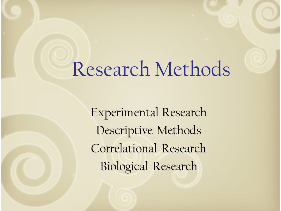 Step 3- Research Design The hypothesis must be tested by using the appropriate research methods ‐ What type of study would best test your hypothesis.