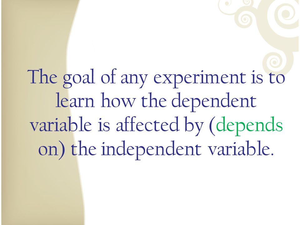 Independent and Dependent.Identify the Variable Independent and Dependent.