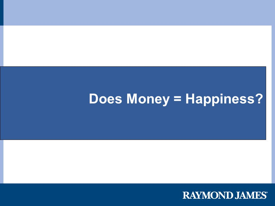Does Money = Happiness?