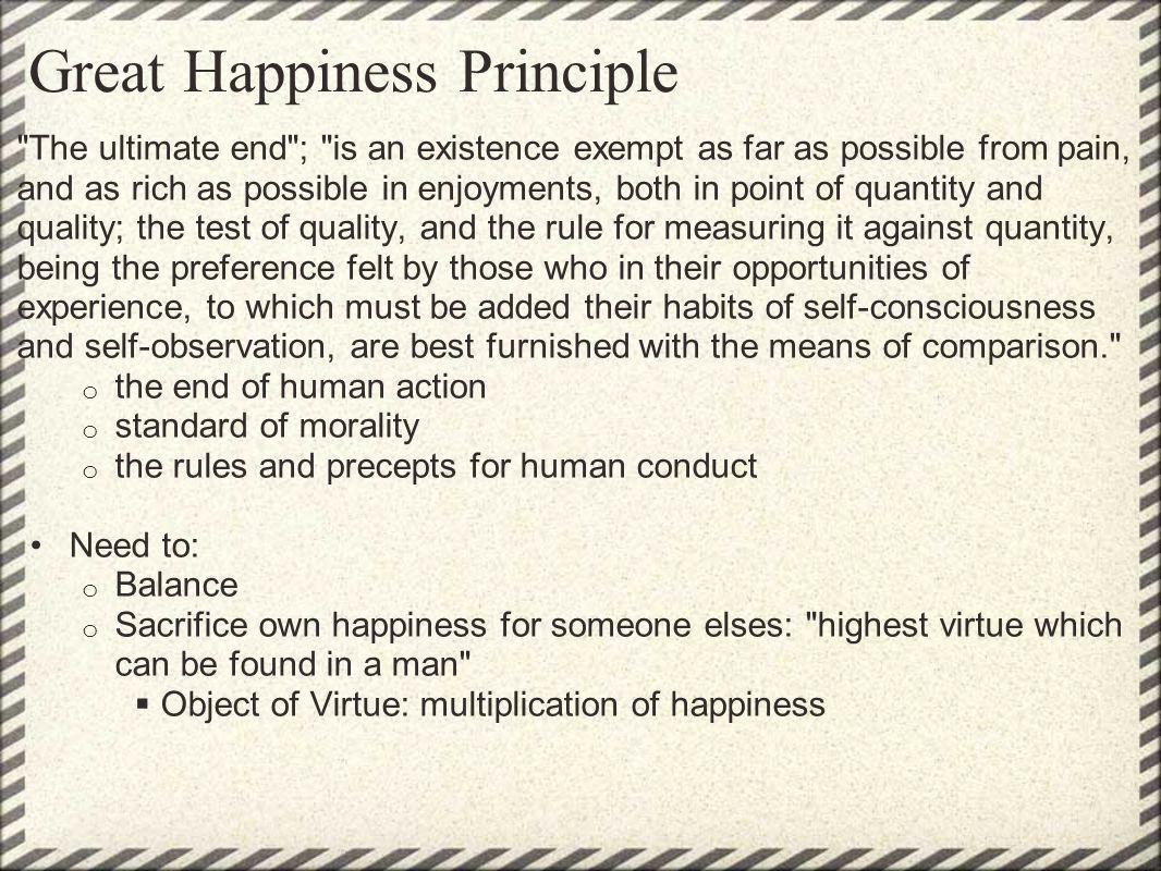 Great Happiness Principle