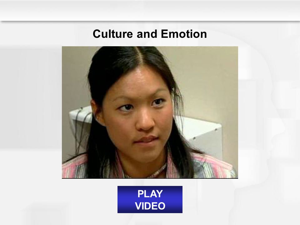 Culture and Emotion PLAY VIDEO