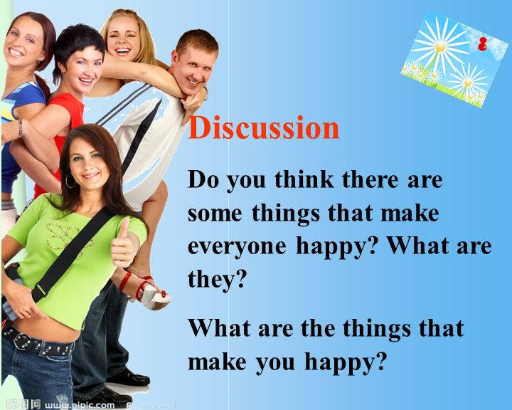 Discussion Do you think there are some things that make everyone happy.