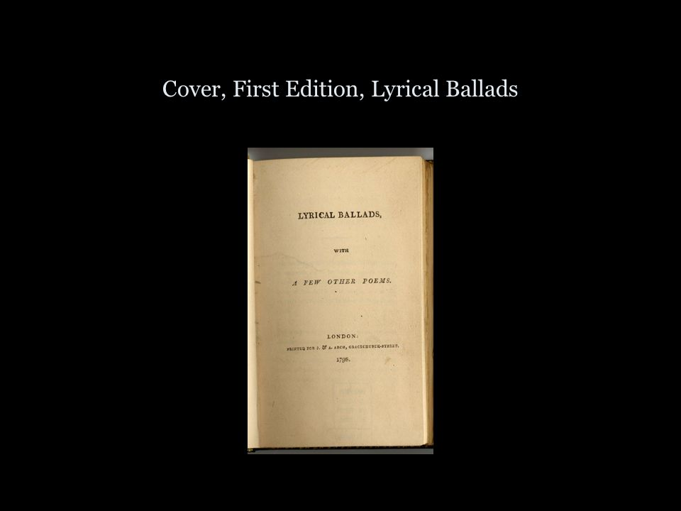 Cover, First Edition, Lyrical Ballads