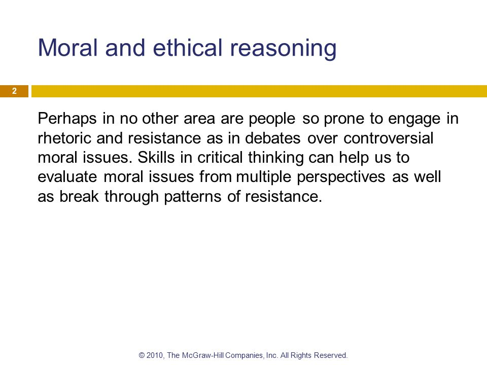 What is moral reasoning.