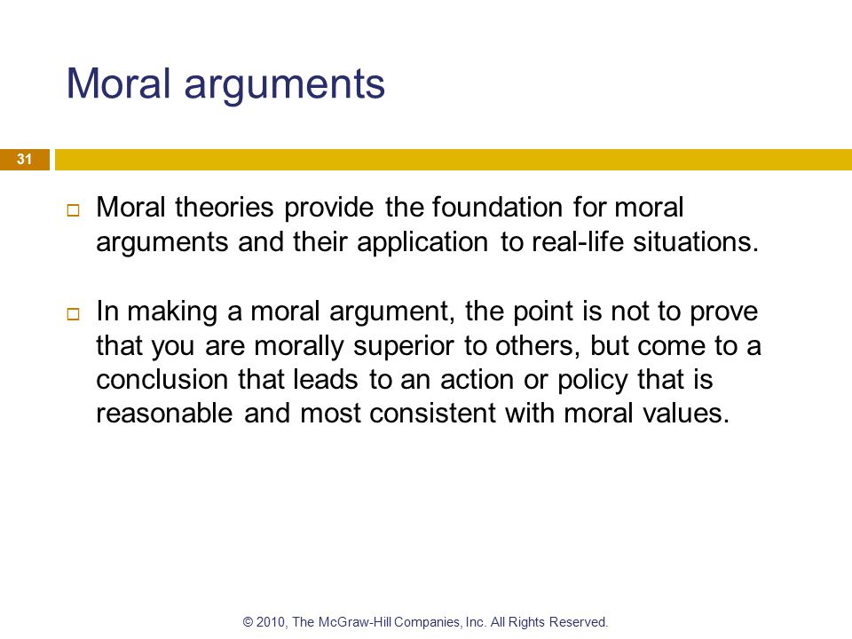 Moral dilemmas Moral dilemmas are situations where there is a conflict between moral values.