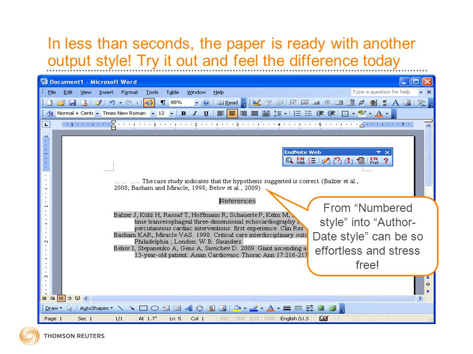 In less than seconds, the paper is ready with another output style.