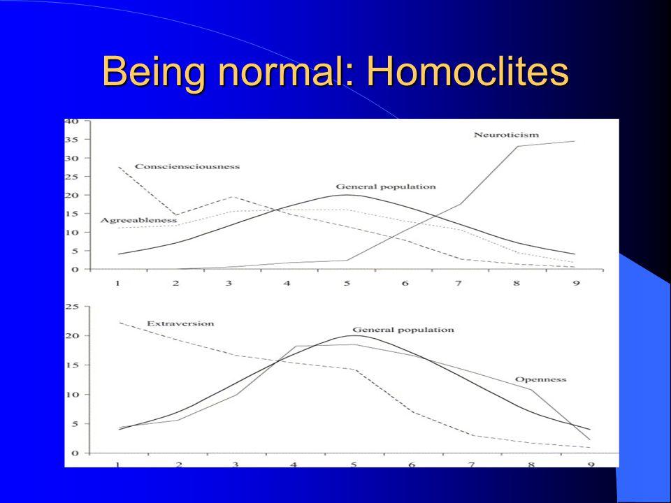 Being normal: Homoclites