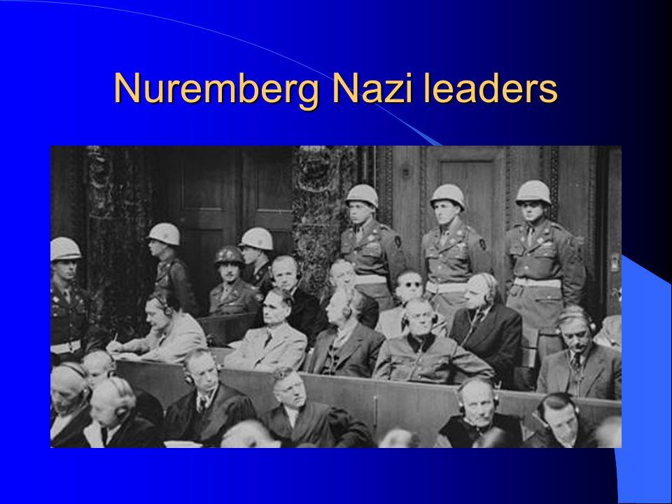Nuremberg Nazi leaders