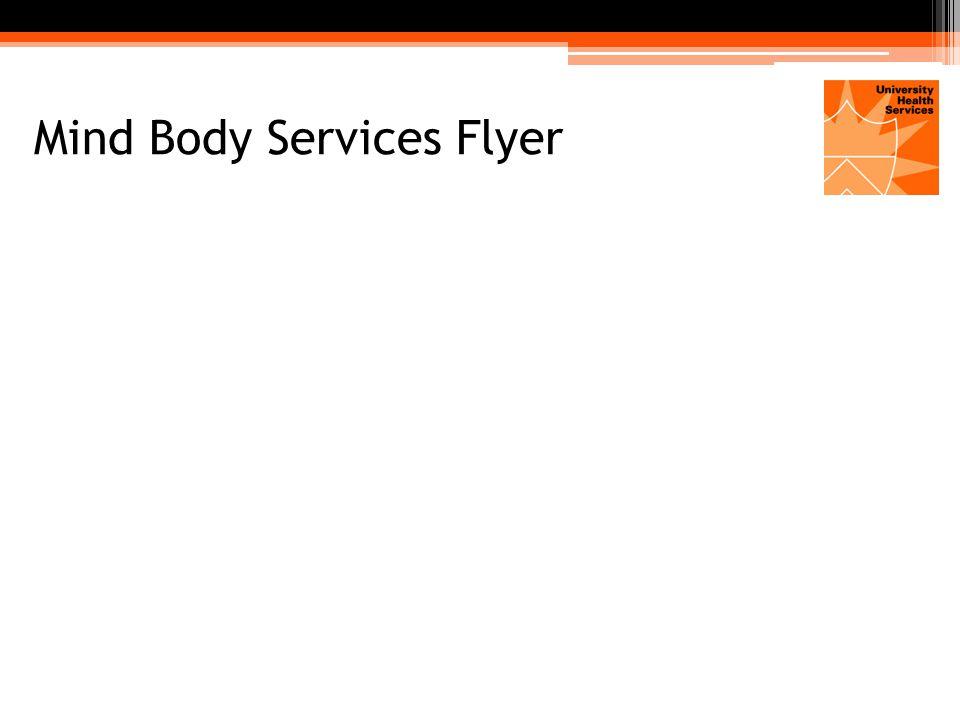 Mind Body Services Flyer