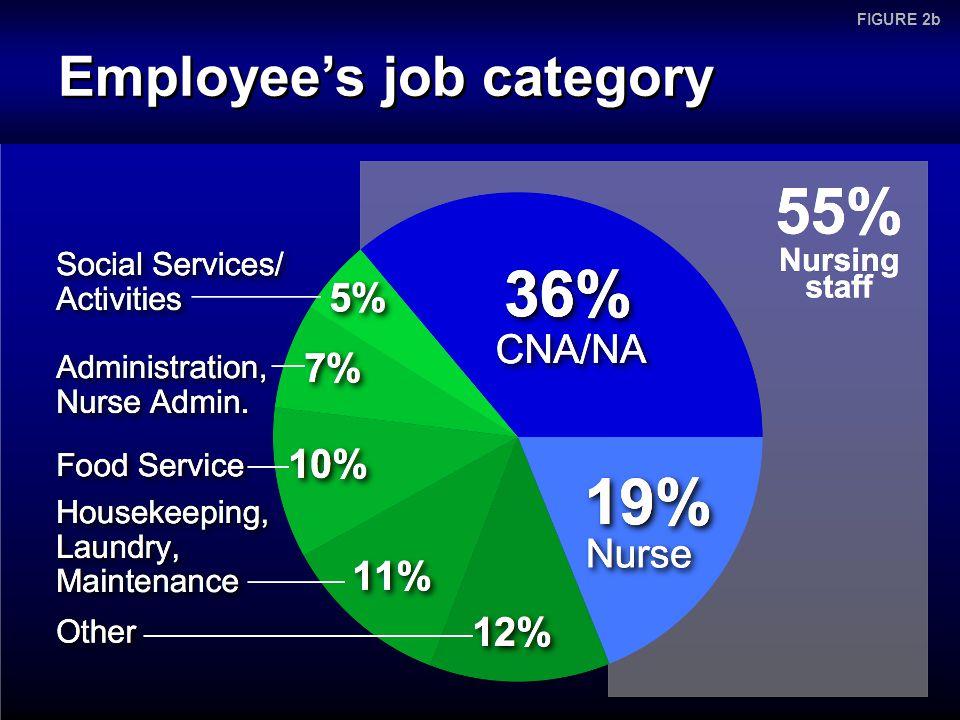 Employee's job category FIGURE 2b