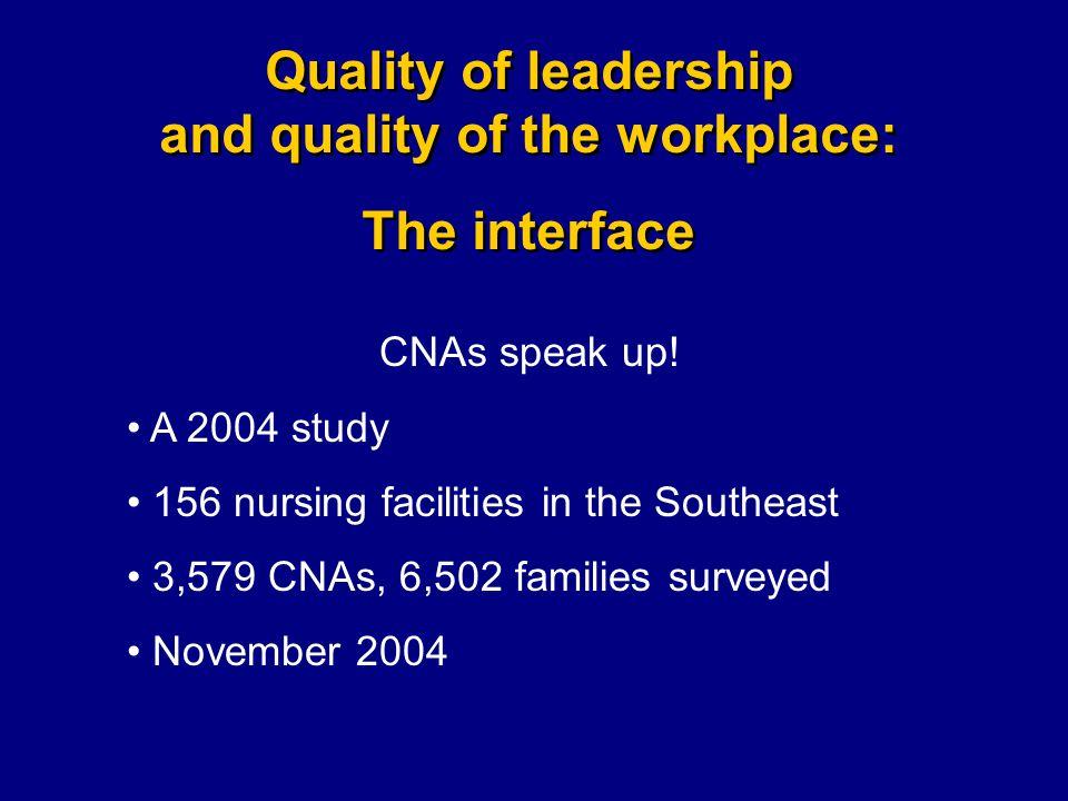 CNAs speak up.