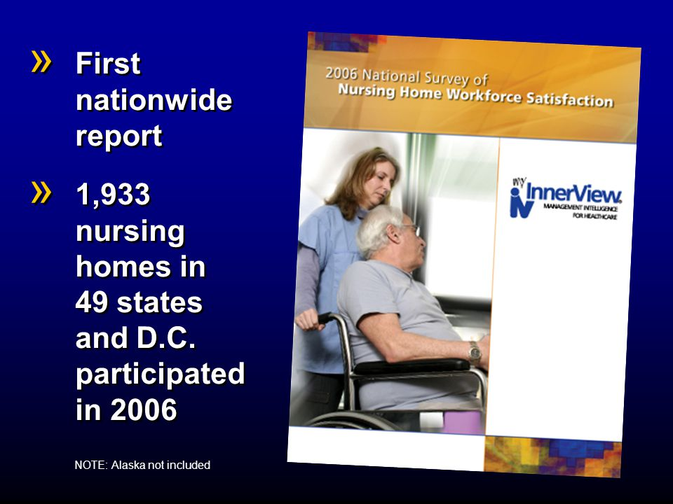 » More residents without falls » More residents without pressure ulcers » More residents without acquired catheters » Less nurse turnover » More nurse stability » Less CNA absenteeism » Less nurse absenteeism » Higher occupancy » More residents without falls » More residents without pressure ulcers » More residents without acquired catheters » Less nurse turnover » More nurse stability » Less CNA absenteeism » Less nurse absenteeism » Higher occupancy Facilities with higher employee satisfaction have: