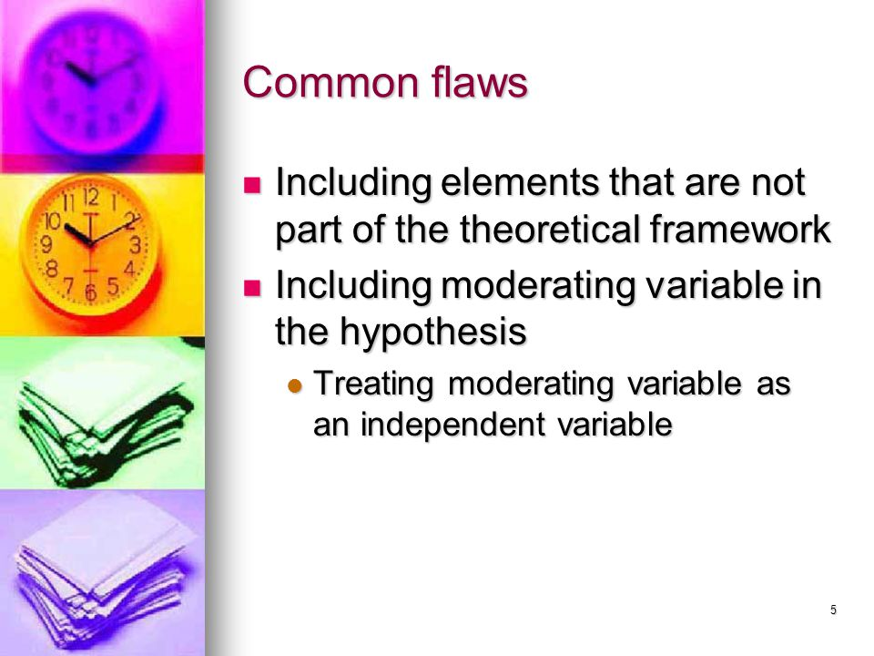 6 Dependent / Independent Variables Fig. 5.1 and 5.2