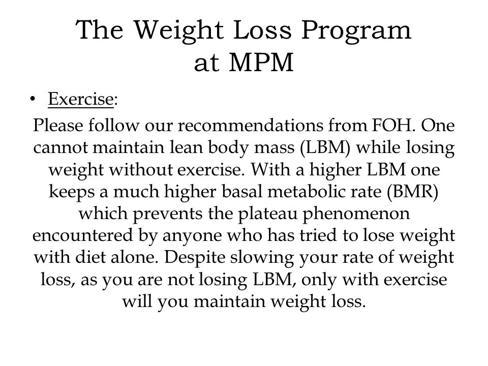Exercise: Please follow our recommendations from FOH.