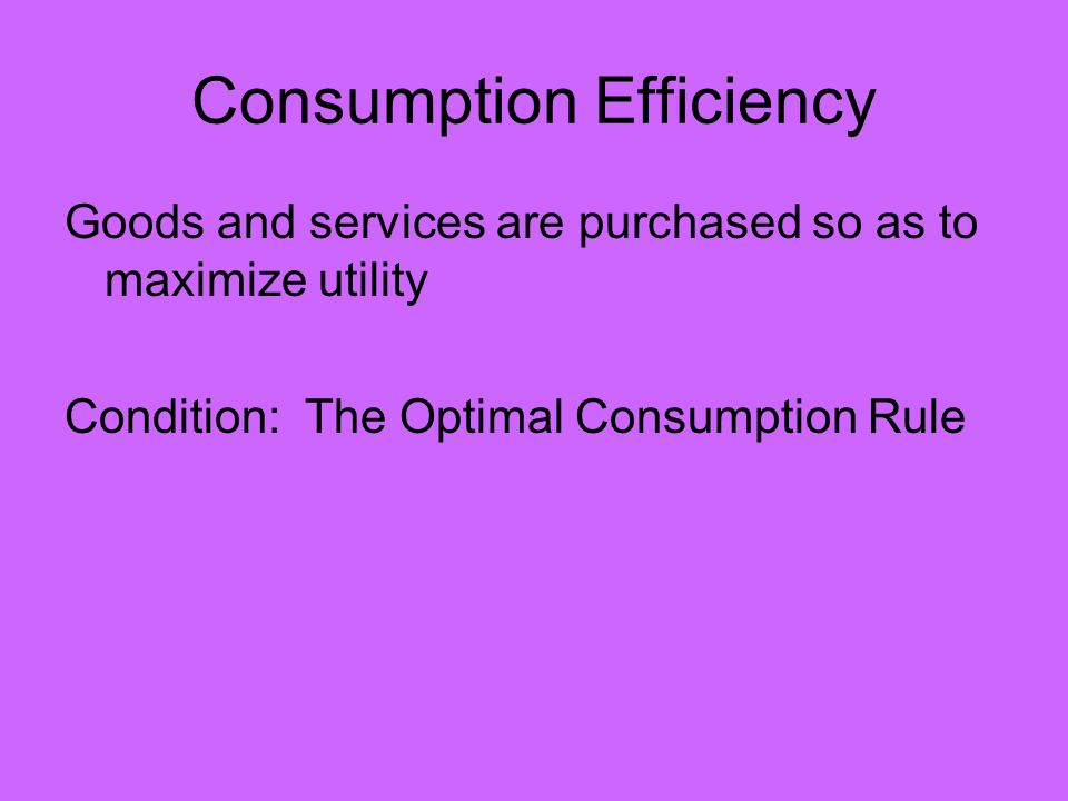 What we really want for productive efficiency is for each firm to have the same rate of technical substitution (MP L /MP K ): RTS Firm A = RTS Firm B