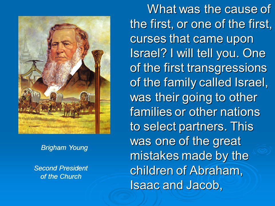 What was the cause of the first, or one of the first, curses that came upon Israel.