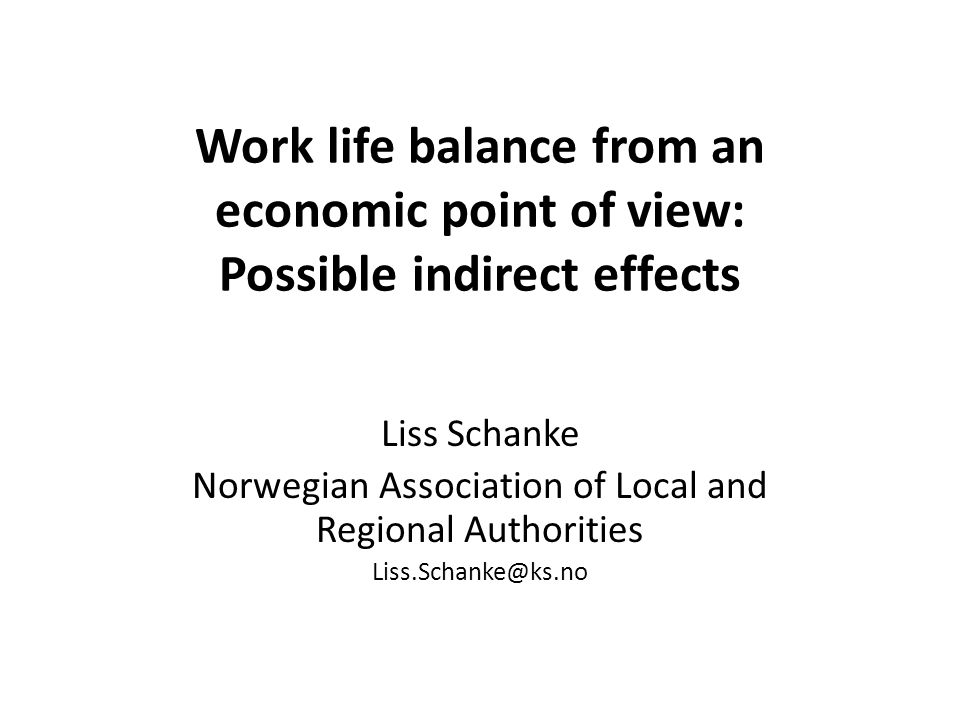 Possible indirect effects No easy answers Short and long term No standard answers Will vary between countries and cultures Not the same context Spain and Norway –not the same answers