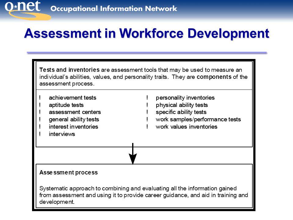 Assessment in Workforce Development