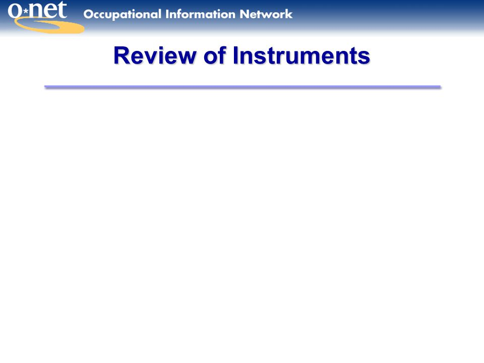 Review of Instruments