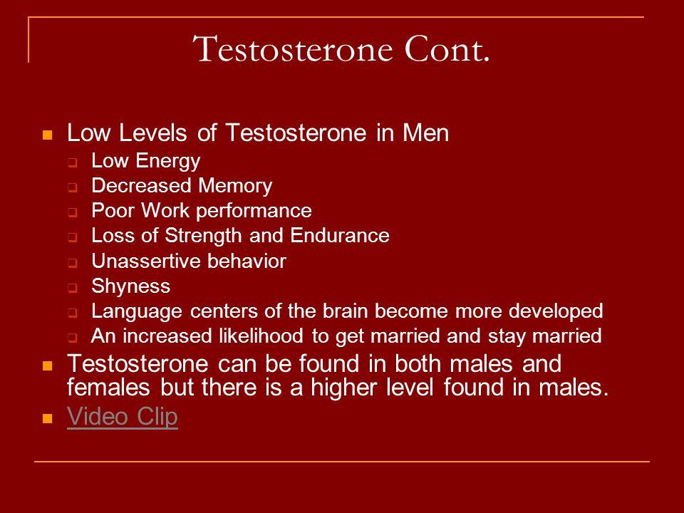 Testosterone Cont.