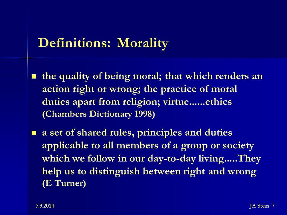 5.3.2014JA Stein 48 Universal ethics Values.