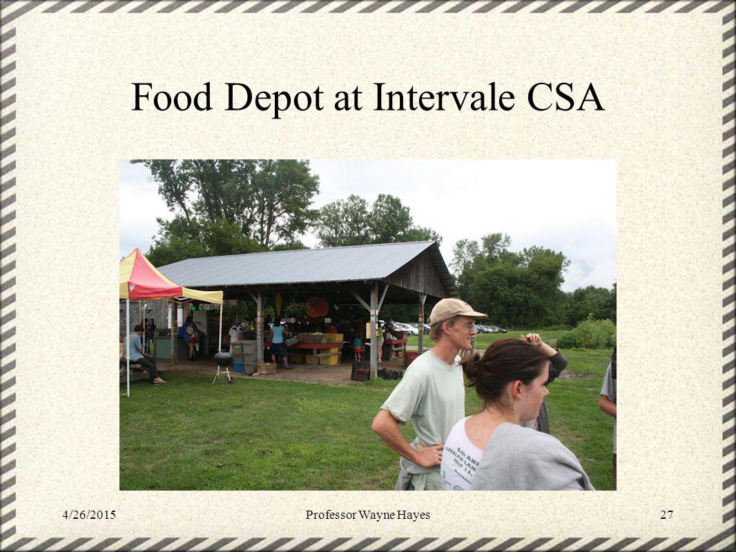 Food Depot at Intervale CSA 4/26/2015Professor Wayne Hayes27