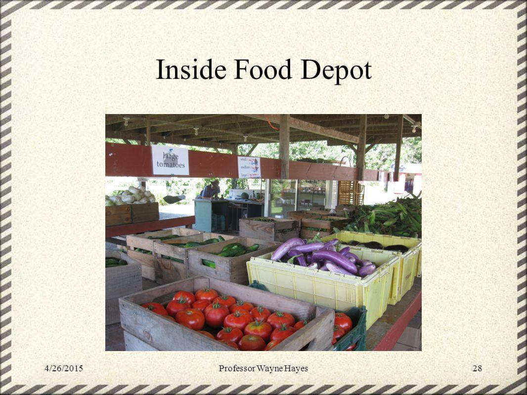 Inside Food Depot 4/26/2015Professor Wayne Hayes28