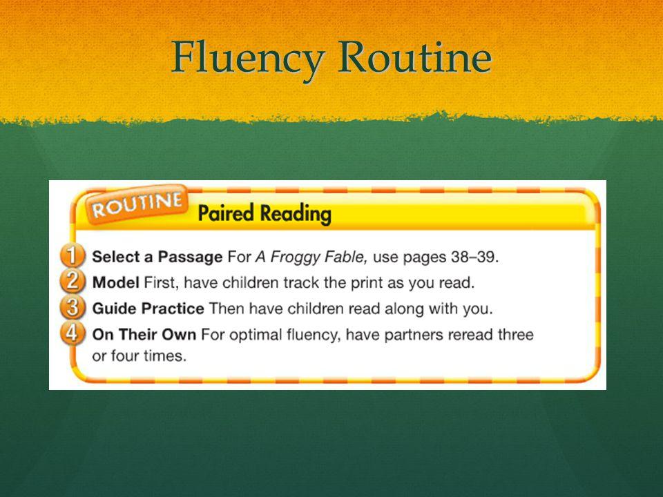Fluency Routine