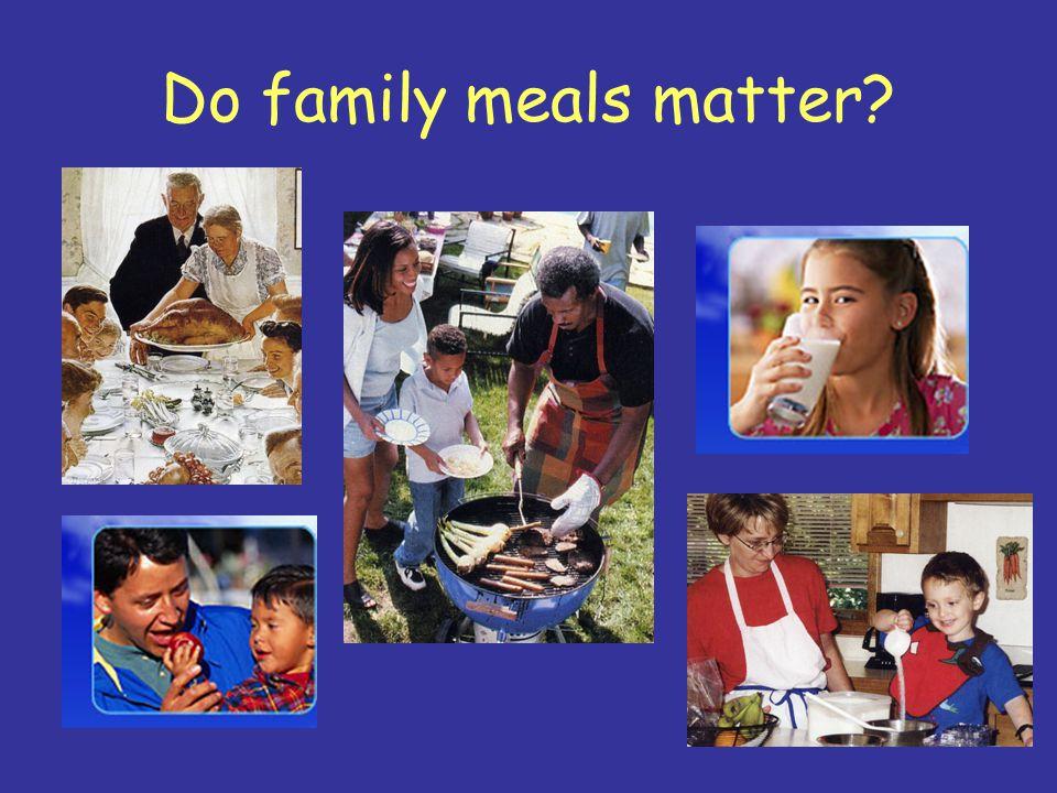 Do family meals matter?